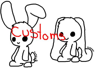 Rabbits Adoptables5 by DalekDoodle