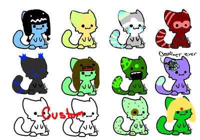 Adoptable kittehs by DalekDoodle
