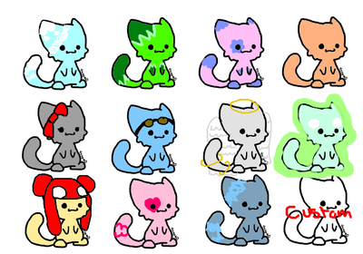 Adoptable kittehs 2 by DalekDoodle