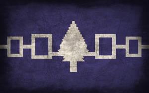 Iroquois Grunge Flag by Elthalen