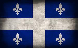 Quebec Grunge Flag by Elthalen