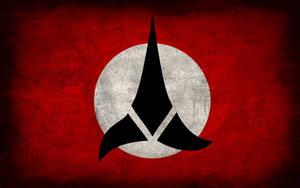 Klingon Empire Grunge Flag by Elthalen