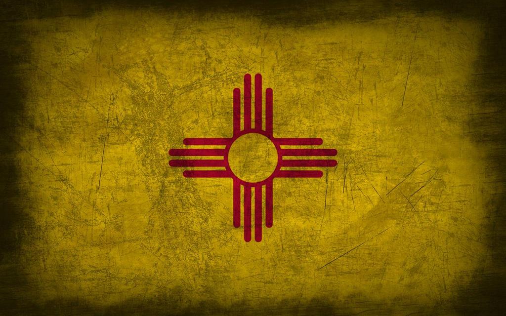 New Mexico Grunge Flag By Elthalen On Deviantart