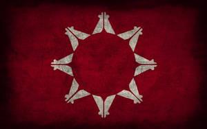 Oglala Sioux Grunge Flag by Elthalen