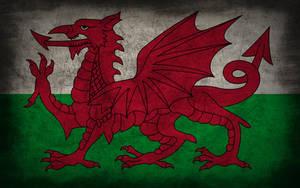 Wales Grunge Flag by Elthalen