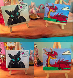 Mini Dragons by Cheri-Bomb
