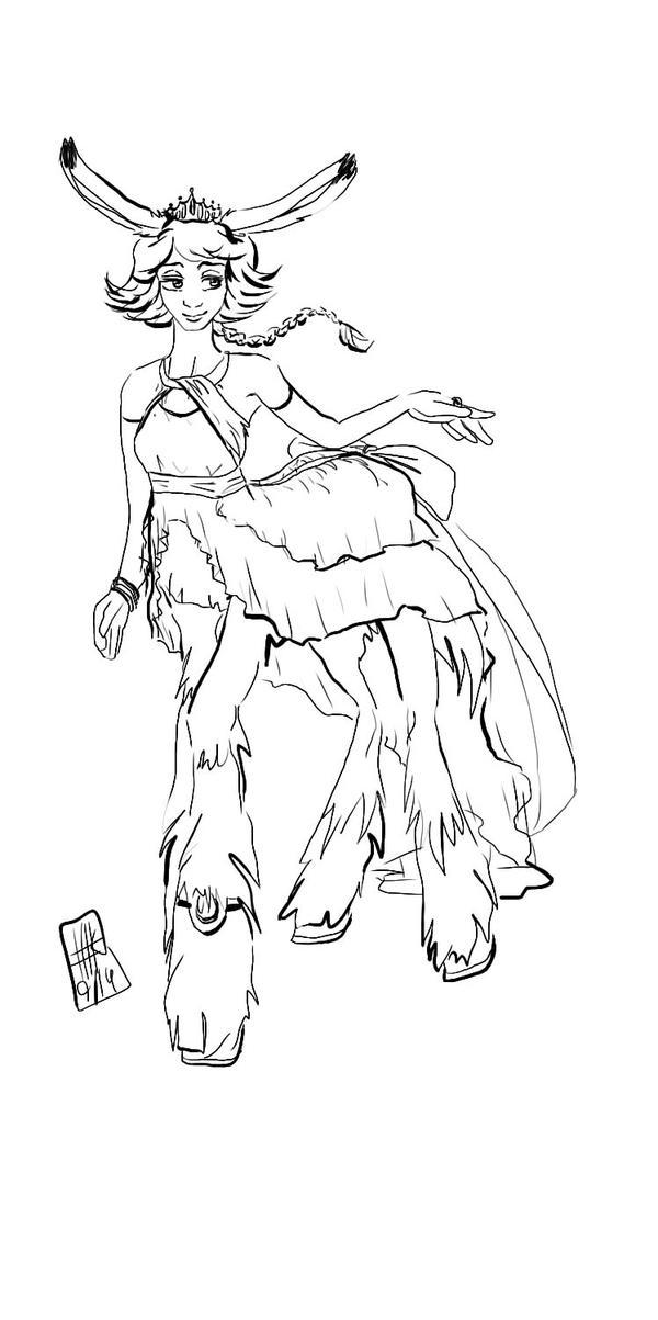 The Princess of all Centaurs LINE by KitsunekoShojo