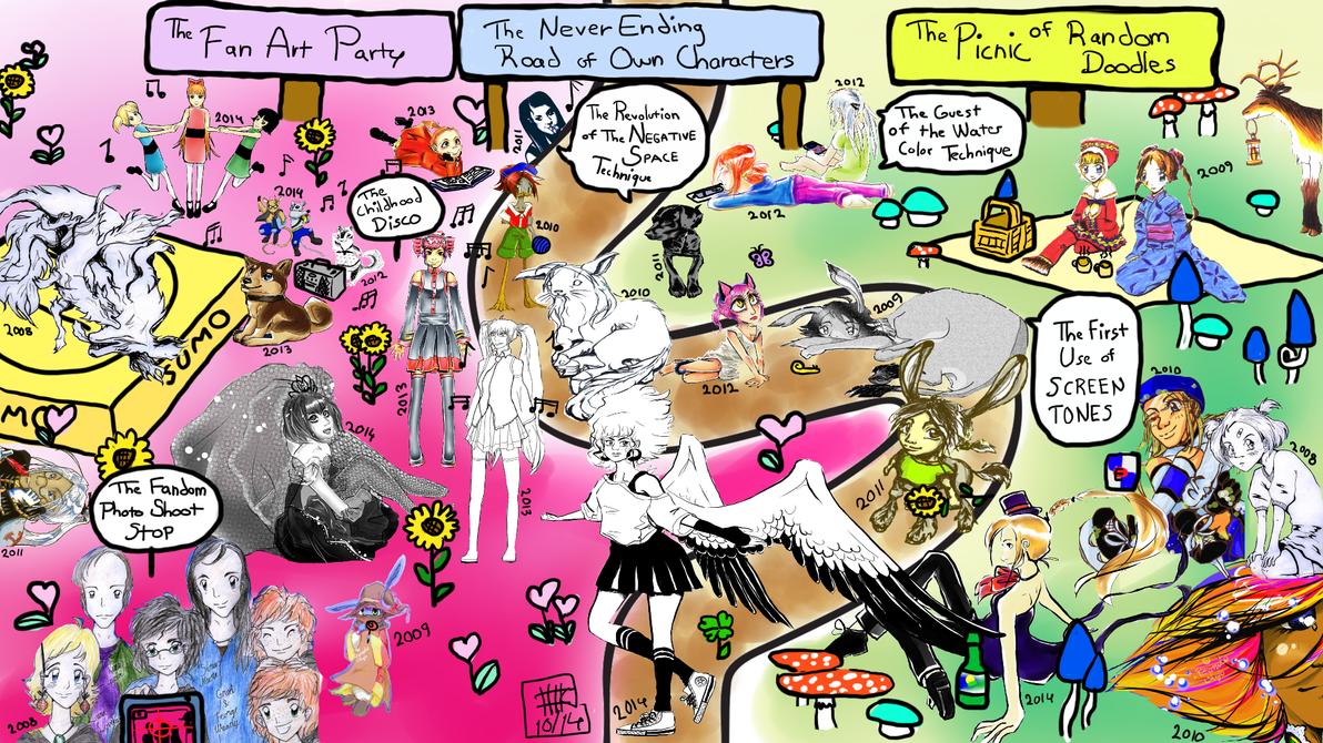 Six years of artistic journey by KitsunekoShojo by KitsunekoShojo