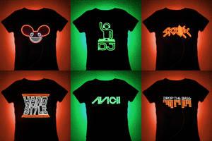 FO' SALE: EL Wire DJ T-shirt Panels