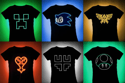 For Sale: Gamer EL Wire Panels for T-shirts