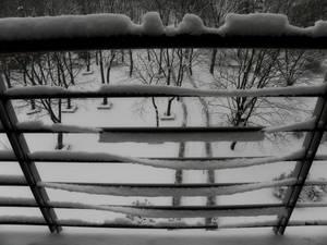 Bukfurdo Balcony Railing Snow Bends, Tears