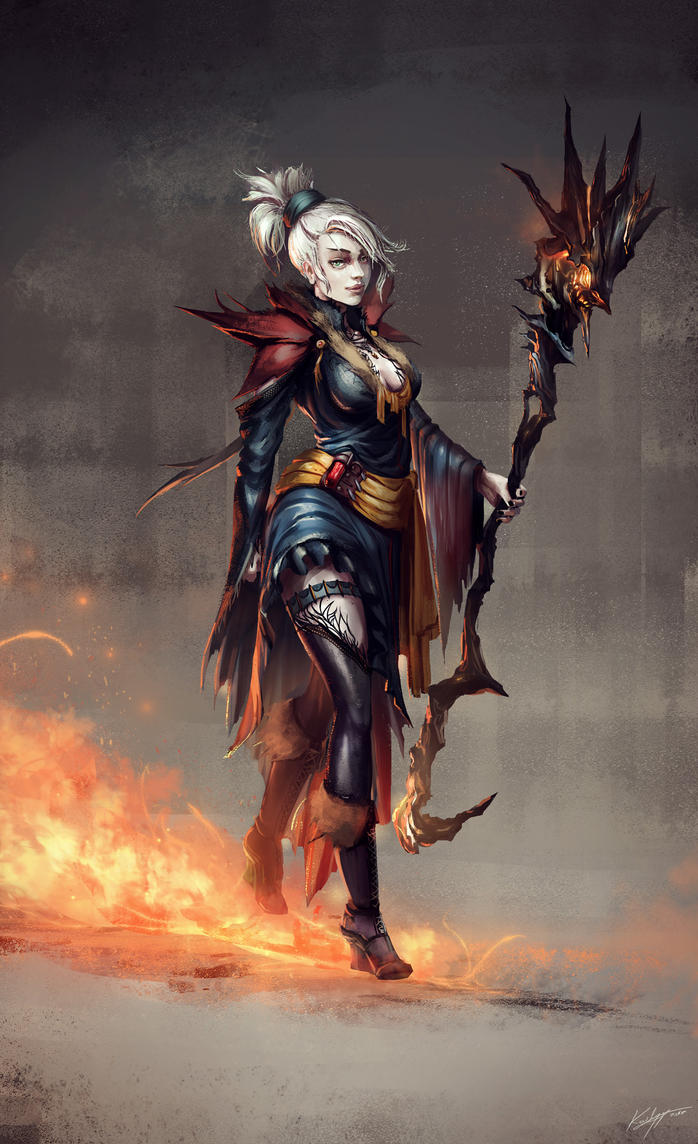 Fire witch by Kailyze