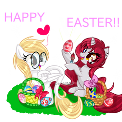 Happy_Easter_Commission_+SpeedPaint by DarkJillMLP123