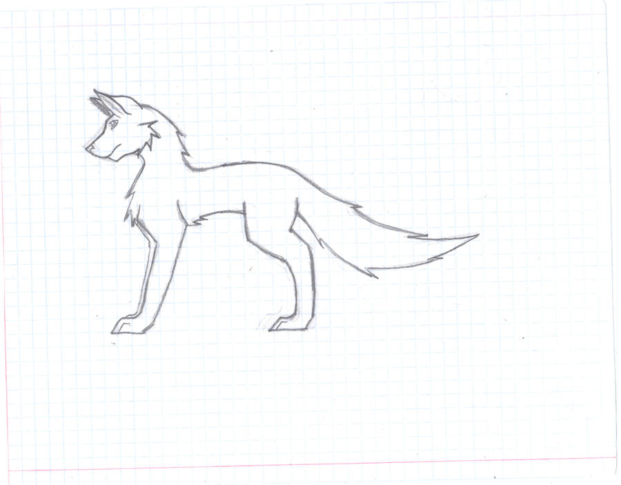 cool wolf drawings easy