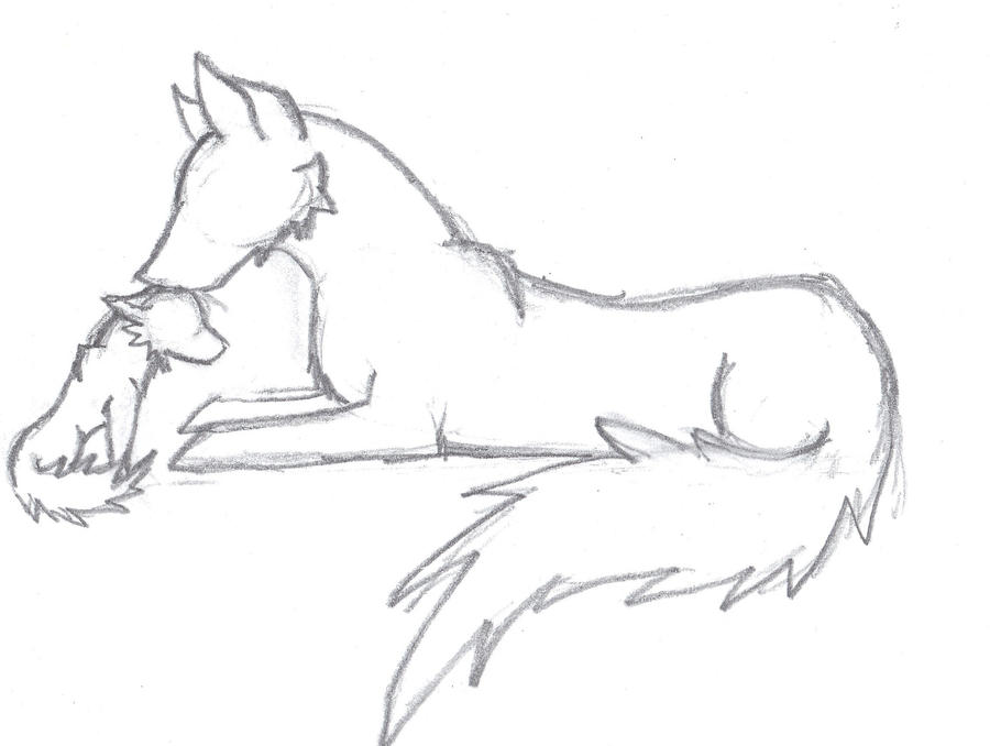 Wolf Image Drawing Wolf Drawing Wolf And Her Pup