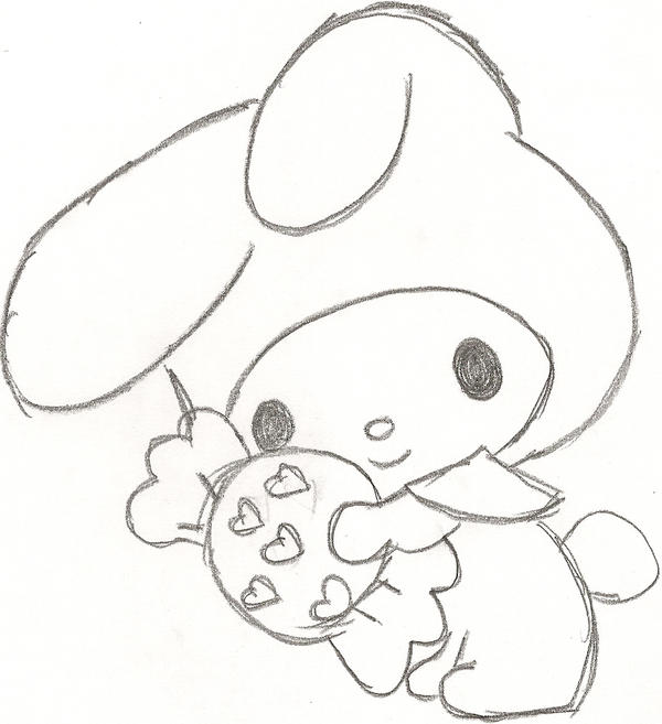 my melody coloring pages - my melody and sweet by plushmush on deviantart