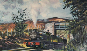 Bert puffing through the Dales of Yore