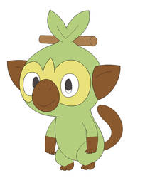 (Fan Art) Grookey in Inafune Style by Alejandro10000