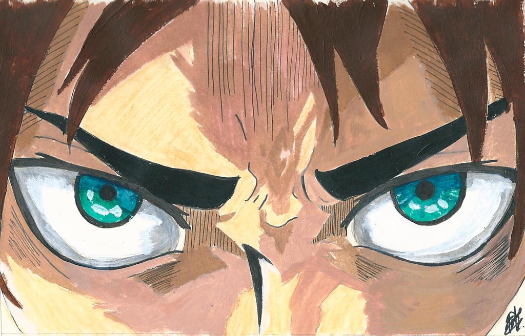 Eren Jaeger Eyes (Painted) - Shingeki no Kyojin by kuraimatsuda