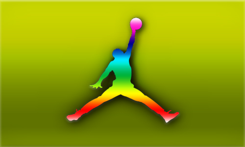 Rainbow Air Jordan By Nateaa