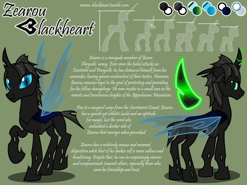 Reference Sheet - Zearou Blackheart (July 2015) by ZearouAyedea