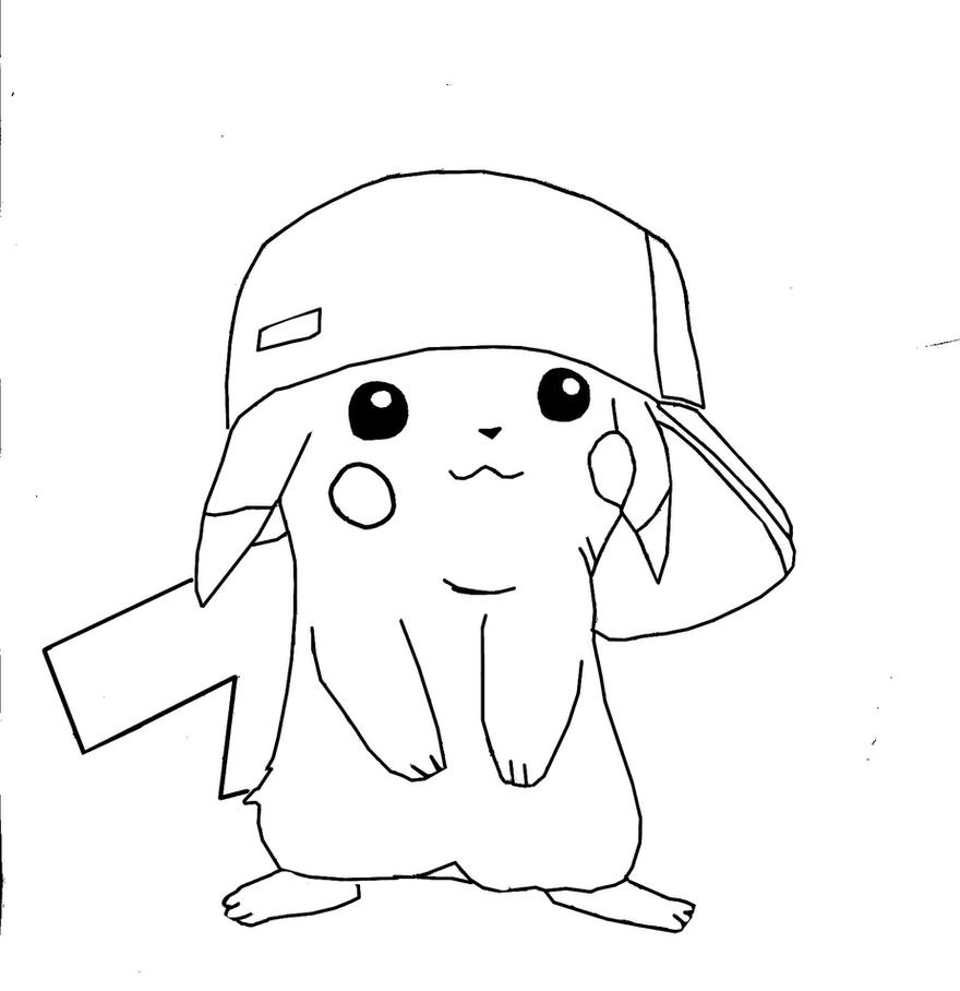 Ash pikachu by awiede02 on deviantart for Ash and pikachu coloring pages