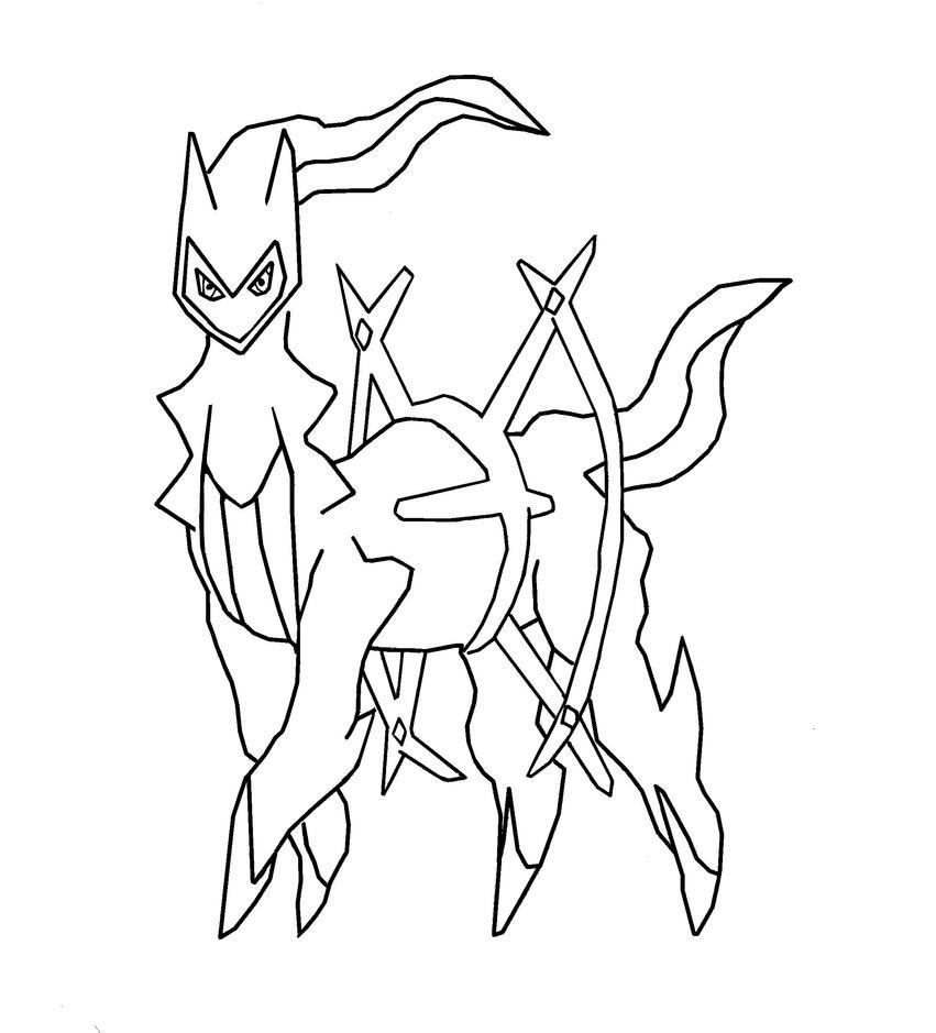 Pokemon Arceus Coloring Pages Sketch