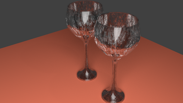 Wine glasses 3d by two2moooon