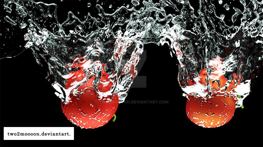 Splash Tomatos  by two2moooon