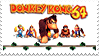 Donkey Kong 64 Stamp by StampPKU