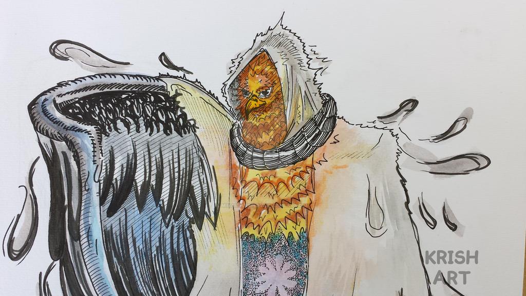 Character design - Garudah (close view) :D by MihailMarinov