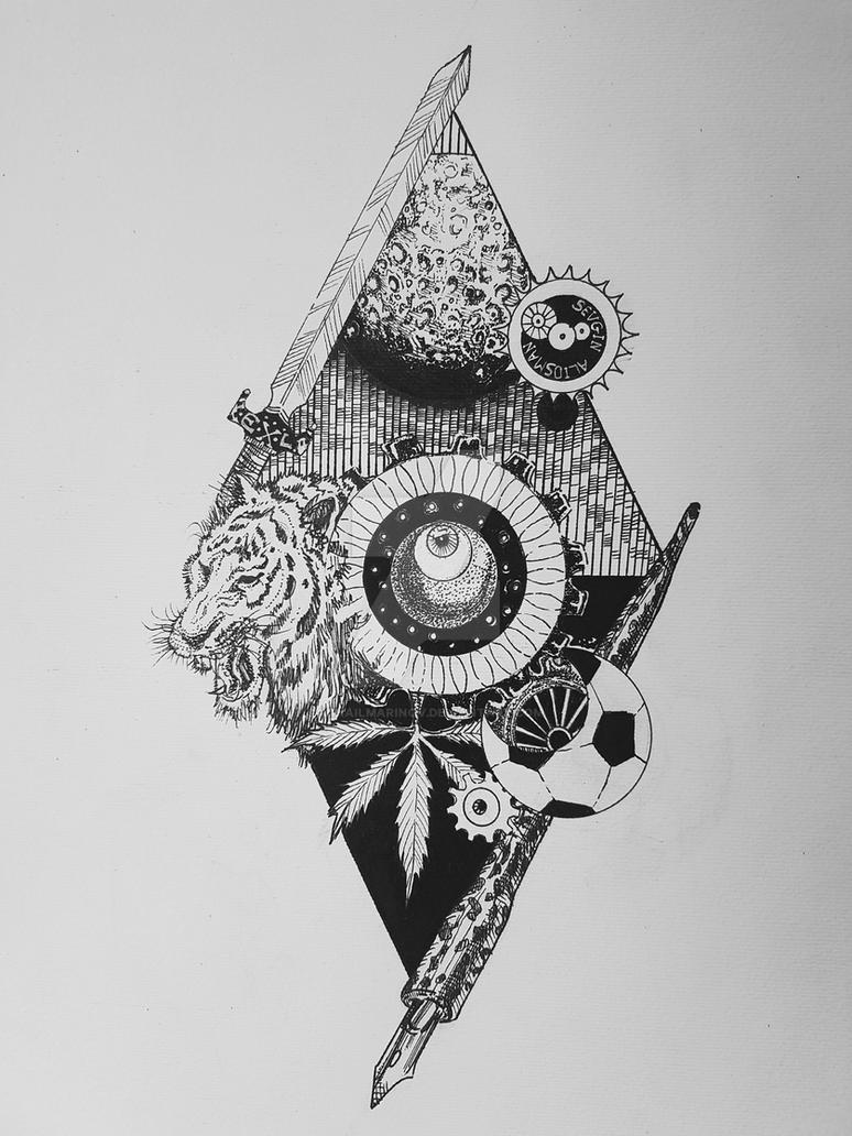 ExLibris Project drawing by MihailMarinov