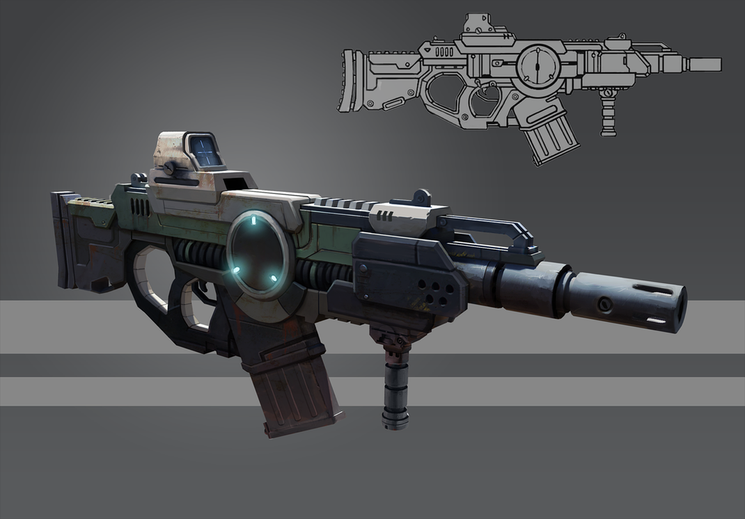 Futuristic Rifle - Concept by gabrielegabba on DeviantArt