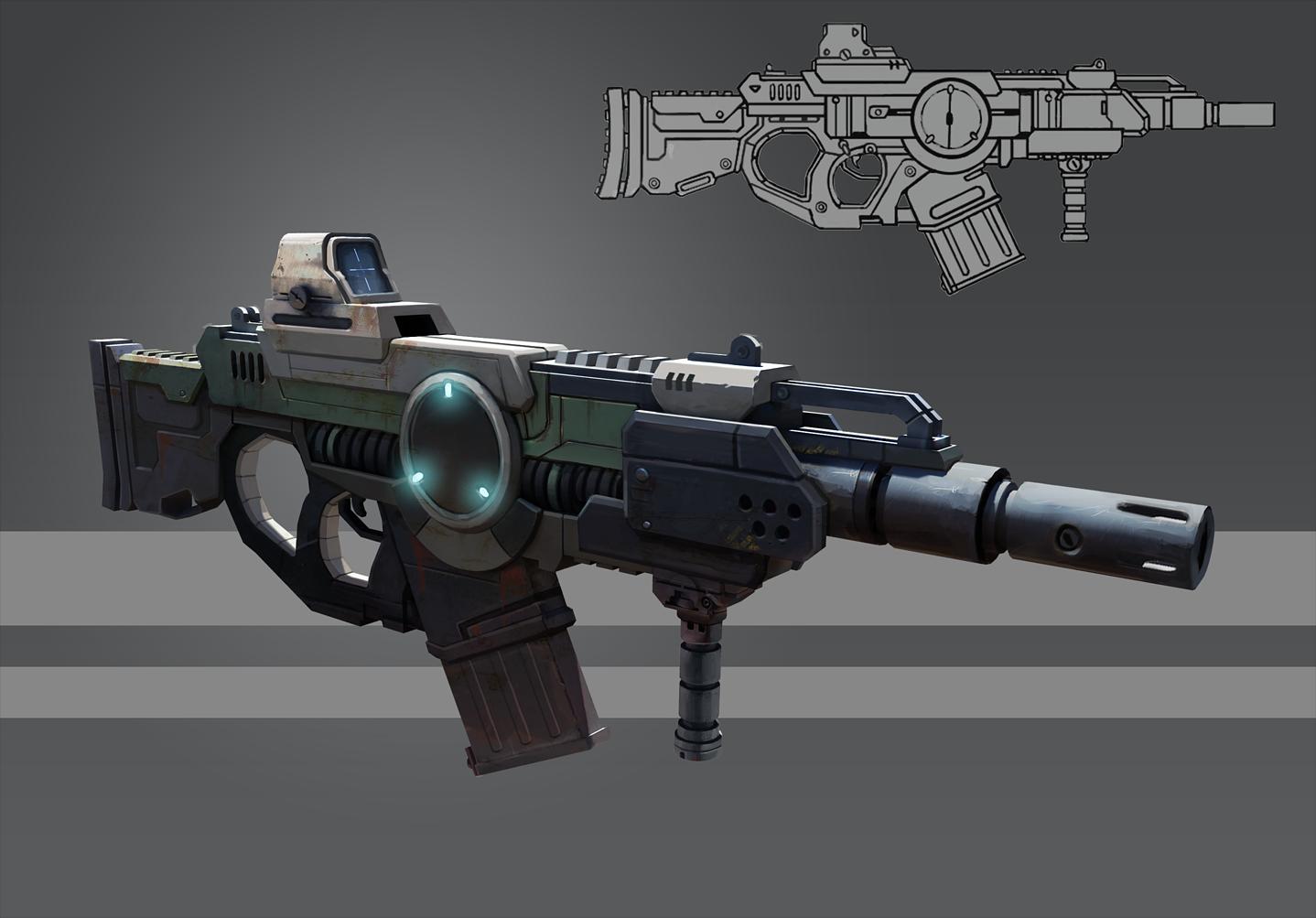 Futuristic Rifle - Concept by gabrielegabba on DeviantArt