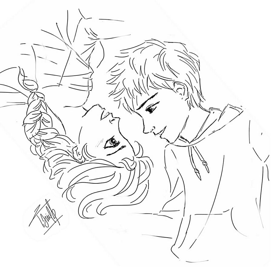 Coloring Pages Of Elsa And Jack Frost. JElsa by natashanadd  on DeviantArt