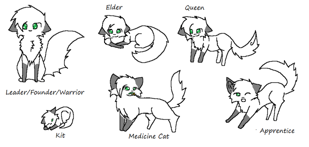 Warrior cats foxleap x oc base