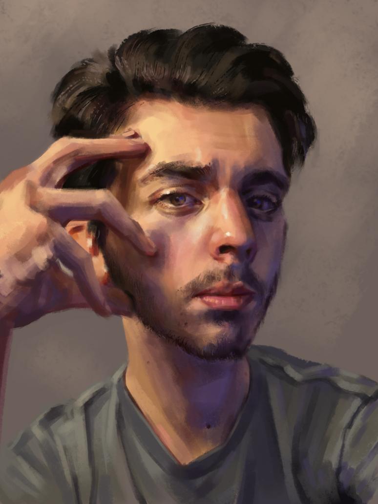 Digital self portrait by LilioTheOne