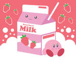 Kirby and Strawberry Milk