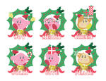 Kirby Christmas Illustrations by gemstonelover49