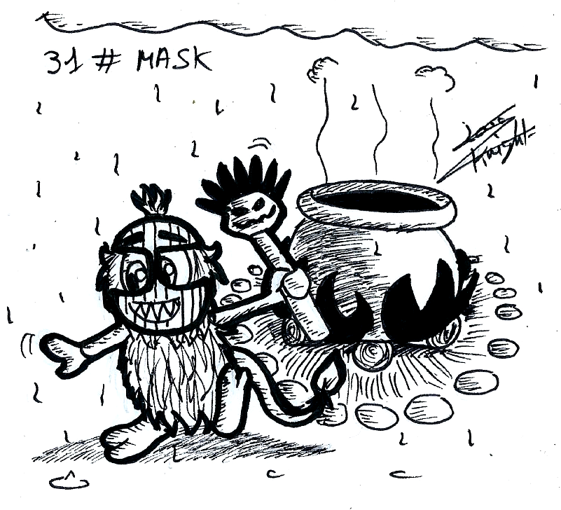Croc themed Inktober - #31 MASK by ClaraKnight