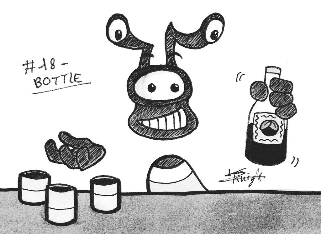 Rayman themed Inktober 2018 - #18 BOTTLE by ClaraKnight