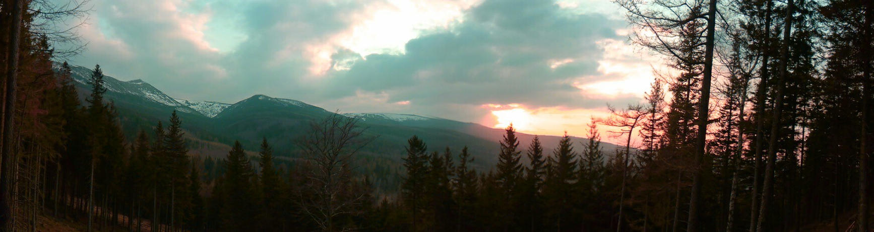 Karkonosze - cyan sunset by norijoko
