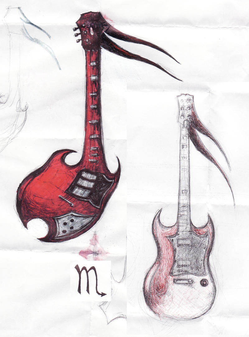 Guitar Tattoo by
