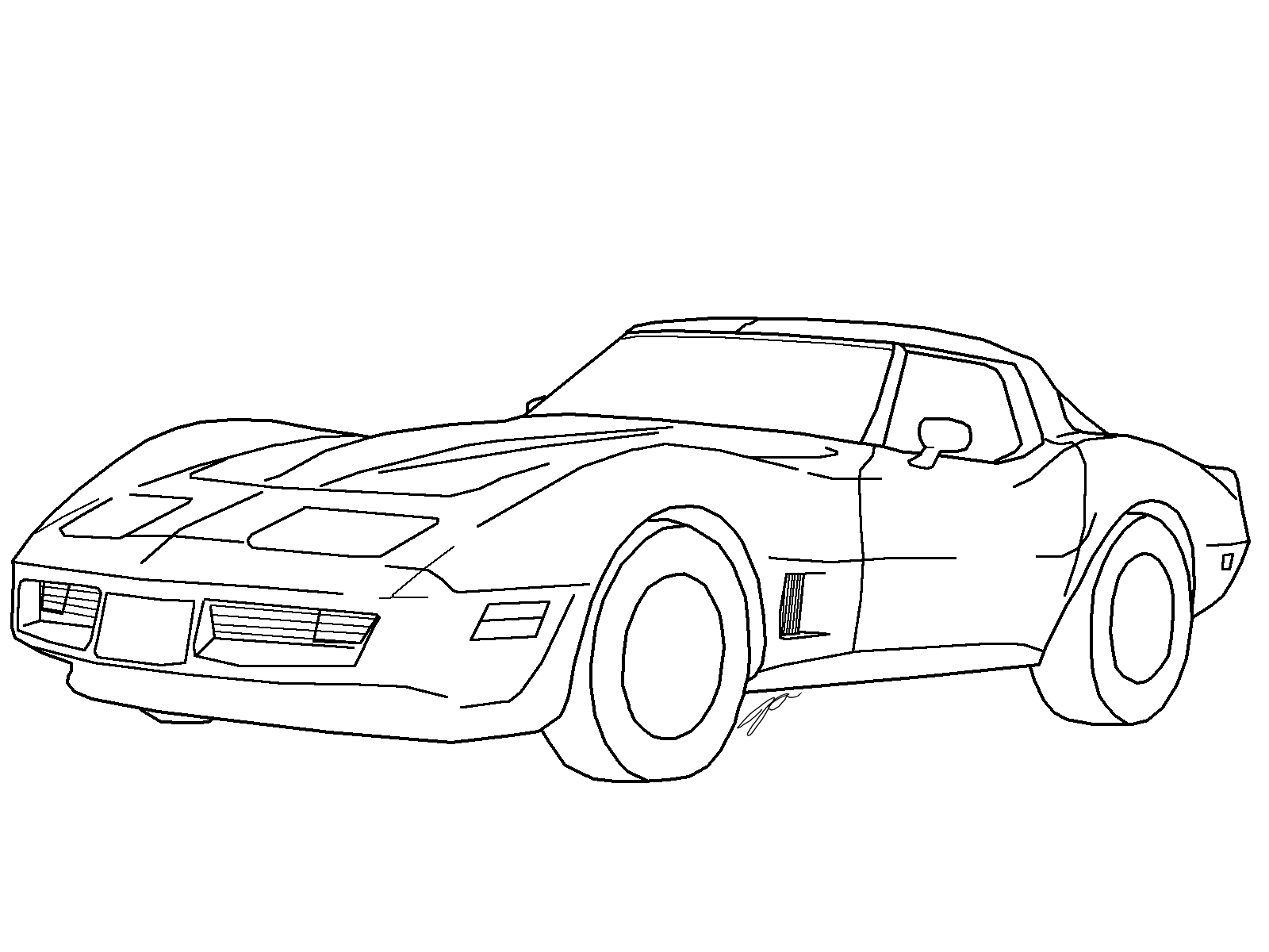 Corvette Lineart 1 By Jaslo On Deviantart