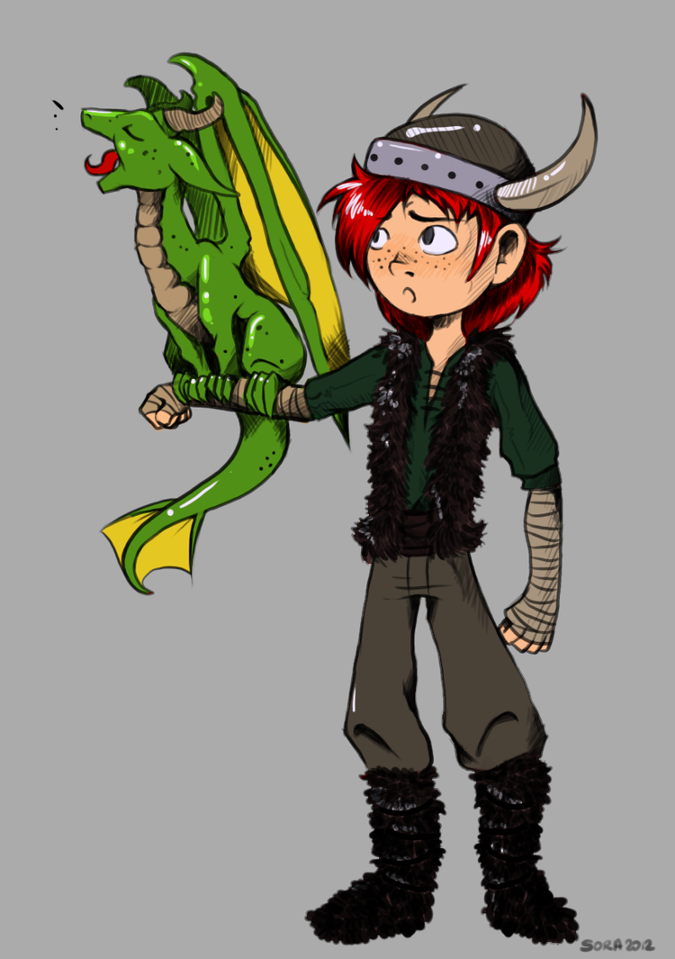 Hiccup and Toothless WIP Final Color Choice by Goombac on