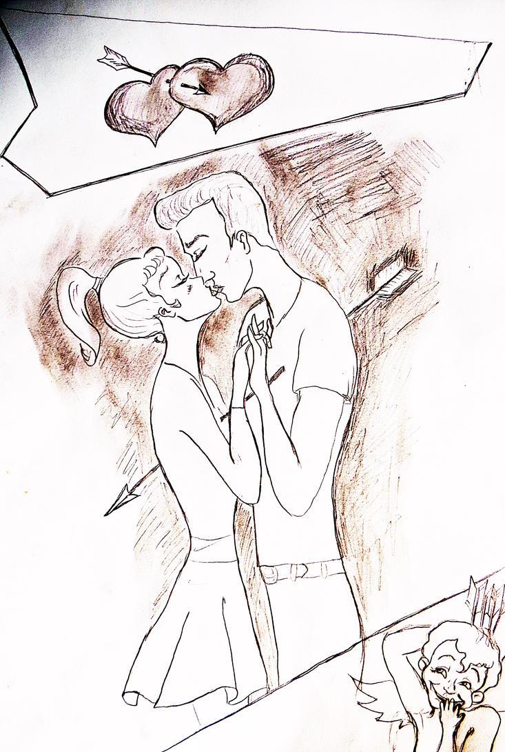 kissing scene by nachtaugen