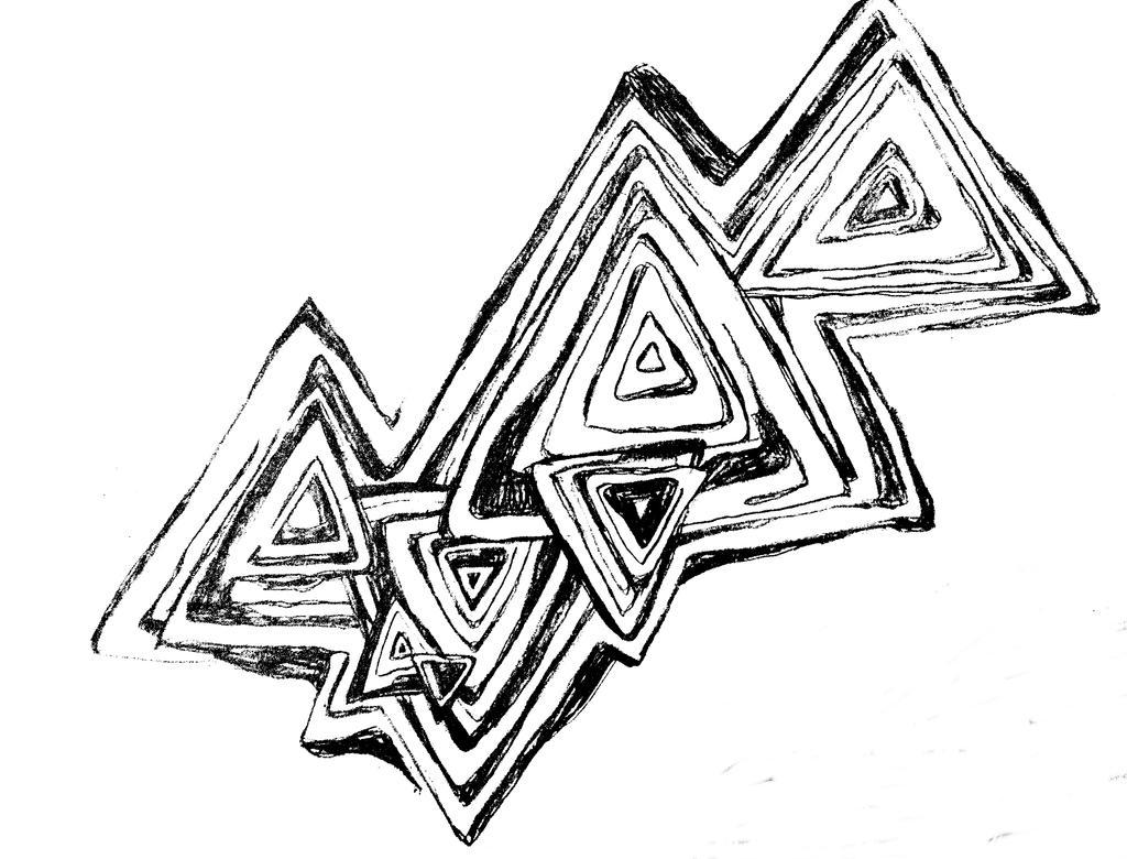 abtract triangular doodle by nachtaugen