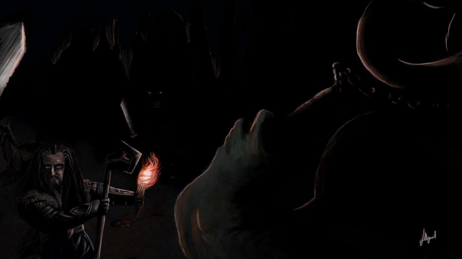 The Hobbit: Thorin Oakenshield Vs. Three Trolls by NilRecurring