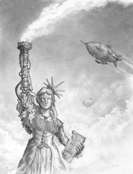 An Alternate Liberty: Steampunk Statue of Liberty