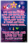 Peace and love on the planet earth by Vicsanvic